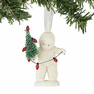 Department 56 Snowbabies New 2016 LIGHTING THE TREE Snowbaby Ornament 4051942