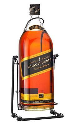 Johnnie Walker Black Label Scotch Whisky & Cradle (4.5 Litre)