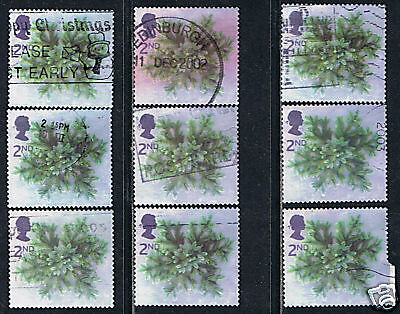 Great Britain #2081 2002 2nd Christmas 2002 Spruce Branches 9 Used