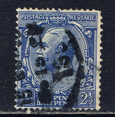 Great Britain #163 (9) 1912 2 1/2 pence ultra George V Used CV$4.50