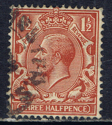 Great Britain #161(8) 1912 1 1/2 pence red brown King George V Used