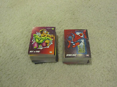 1992 Marvel Impel Complete Set of 1-200 Trading Comic Cards NM-M