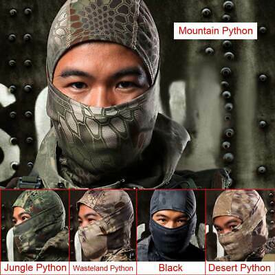 Windproof Tactical Military Full Face Mask Camouflage Outdoor Cap Hats 5 Colors