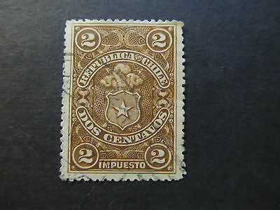 Chile - Tax Stamp - Coat Of Arms - 2 Centavos (20)