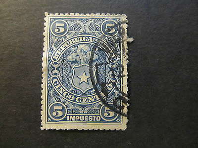 Chile - Tax Stamp - Coat Of Arms - 5 Centavos (23)