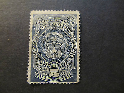 Chile - Tax Stamp - Coat Of Arms - 5 Centavos (43)