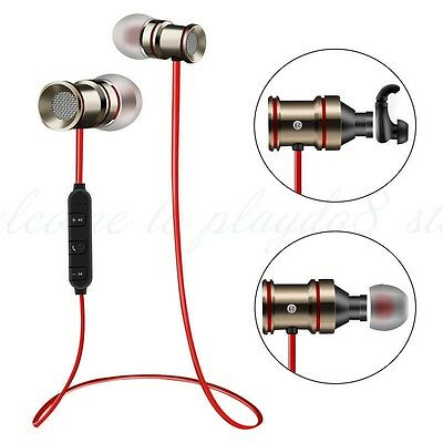 Wireless Bluetooth Sports HD Headphone with Microphone and Magnet Attraction
