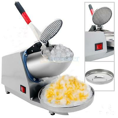 Electric Ice Crusher Shaver Machine Snow Cone Maker Shaved Ice 143 lbs Silver