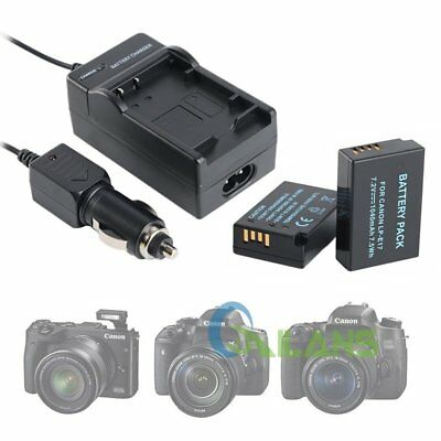 2 Pcs LP-E17 Camera Battery + Travel Car Charger For Canon EOS 750D 760D M3 【AU】