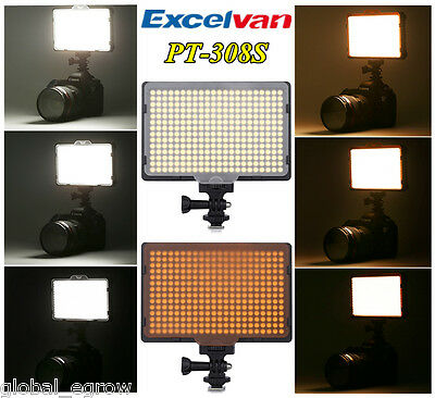 308 LED Dimmable Light Panel 5600K Photography Video Studio Continuous Lighting