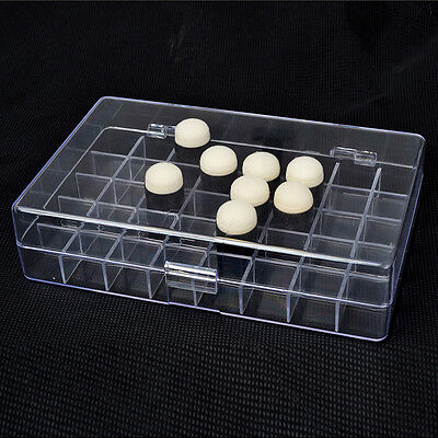 One Clear Plastic Sponge Dauber storage Box Holder To Hold 40 Finger Daubers