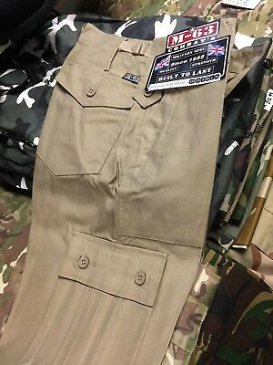 MILITARY COMBAT TROUSER Chino Army Cargo Pants 26 28 30 waist New Sale Sand M63