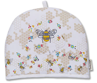 Cooksmart Busy Bees Tea Cosy Teapot Pot Cover Warmer Cotton Insulated Kitchen