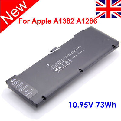 "Laptop For Apple MacBook Pro 15"" INCH A1286 (2011/2012) A1382 6cell Battery"