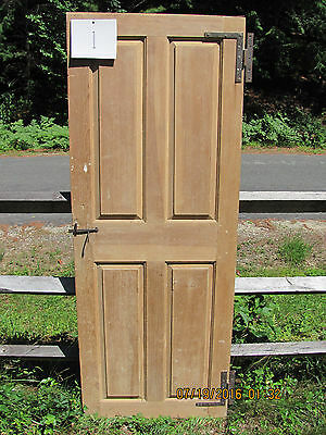 Late 18th Cent. or Early 19th Cent.  4 Panel Door with Original HL Hinges #1