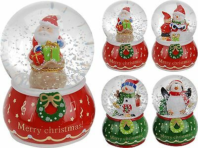 Traditional Large Christmas Snow Globe Glass Xmas Santa Snowman Penguin