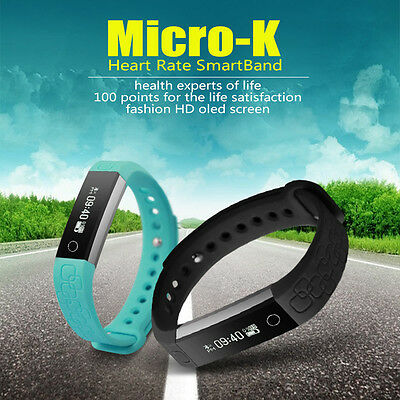 OLED Bluetooth Smart Watch Wristband Bracelet Heart Rate Pedometer Fitness Band