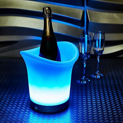 Vinsani LED Colour Changing Party Ice Bucket Changes 7 Colours Battery Operated