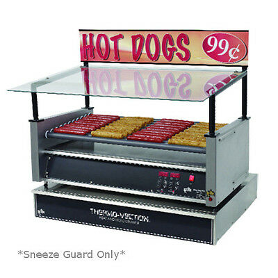 Star 50SG-G Hot Dog Grill Sneeze Guard Glass Canopy *Sneeze Guard Only*