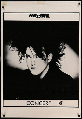 Original 1987 CURE  Music Poster Robert Smith, concert! Gothic Rock n Roll