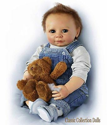 "Ashton Drake ""TIMMY, YOU RASCAL""- LIFELIKE  BABY BOY DOLL-NEW -IN STOCK NOW !"