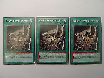 3 x Cyber Repair Plant * SDCR Common Playset * Yu-gi-oh