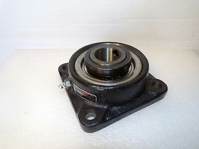 Link Belt FEU322 1-3/8 Mounted Bearing Heavy Duty Cast 4Bolt Square Flange Block