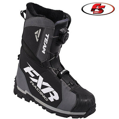 2018 FXR Team BOA Boot Black Sizes 10 11 12 13 14 Snowmobile Motorcycle Boots