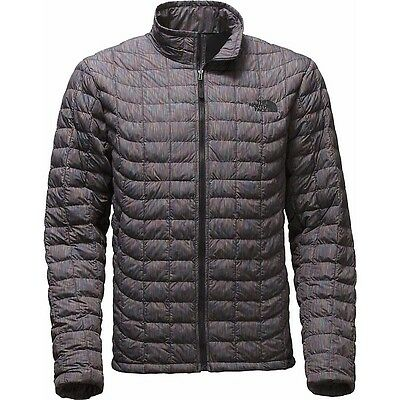 The North Face Men's THERMOBALL Insulated Stowable Jacket Black Multi Colour M
