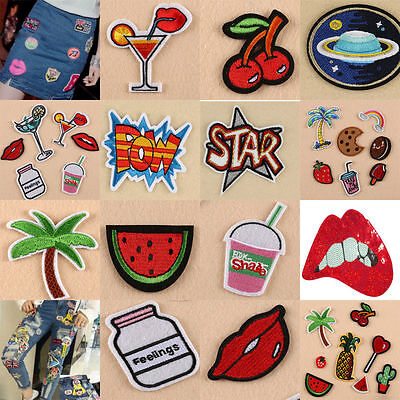 8Pcs / Set  Embroidery Sew Iron On Patch Badge Bag Clothes Fabric Applique DIY