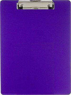 Officemate OIC Recycled Plastic Clipboard, Letter Size, Purple (83064) New