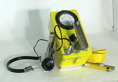 Working Geiger Counter (CD V-700 Mod. No. 6) with Headphone and Dosimeters