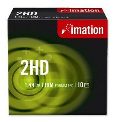 "Pack de 10 disquettes - Imation 2HD - 1,44mb / 3,5"" - NEUF - Verbatim"