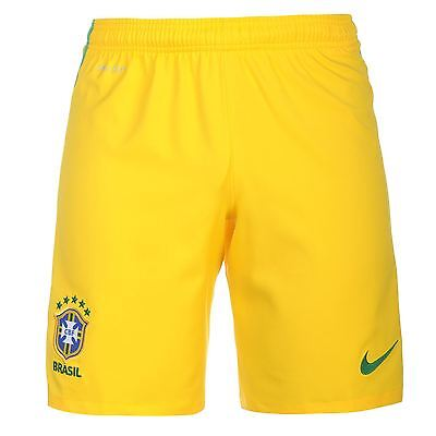 Nike Brazil Home Shorts 2016 Mens Yellow Football Soccer