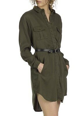 ed5f076670c 100% Authentic- New The Kooples Khaki Flowing Shirt Dress Military Xs S-