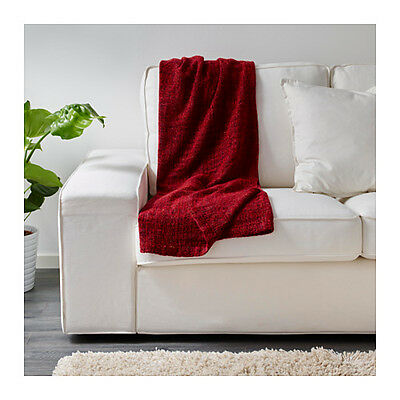 IKEA GURLI Bed Couch Sofa Lounge Knee Throw Rug Blanket 120 x 180 cm in Red