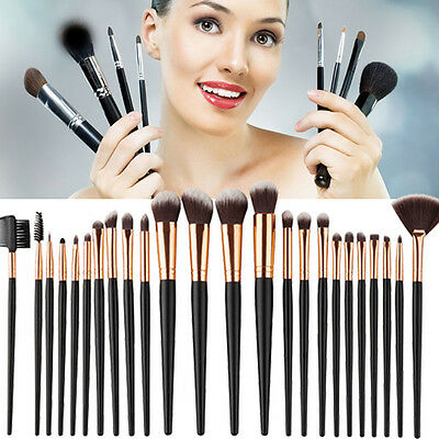 24PCS Professional Kabuki Make up Brushes Set Foundation Powder Brushes Kit New