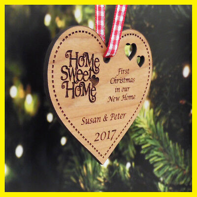 Personalised First 1st Christmas Our / Your New Home Xmas Tree Decoration Bauble