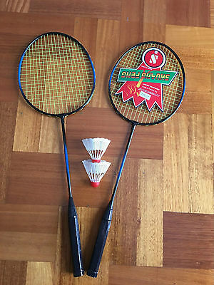 2 Players Badminton Set including 2 Racquets Rackets Shuttlecocks Sports Outdoor