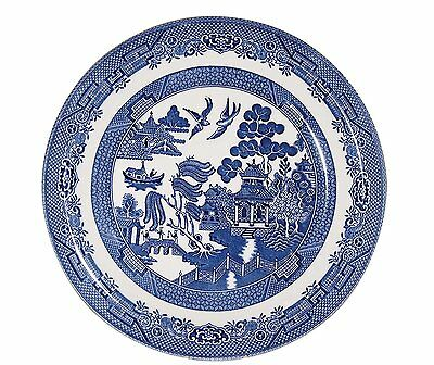 Set of 6 BLUE WILLOW-Bowls-20cm in diameter-CHURCHILL CHINA-Made in England