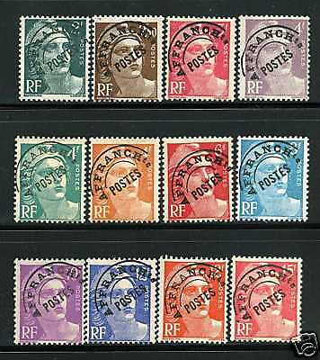 Timbres Preo 94-104 Neuf * * Gomme Originale - Tb