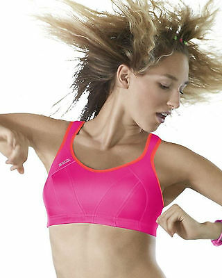 Shock Absorber High Impact Sports Bra 4490 Pink Coral S4490 Wire Free