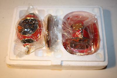 The Bradford Exchange 2001 Firefighter Courage Under Fire Ornament Set EUC W/TAG