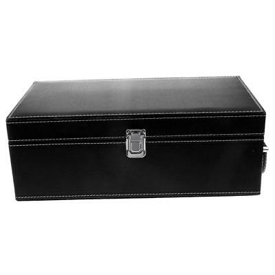 Black Wooden Storage Trunk for Two 1/6 12'' Blythe Doll Storage & Protection