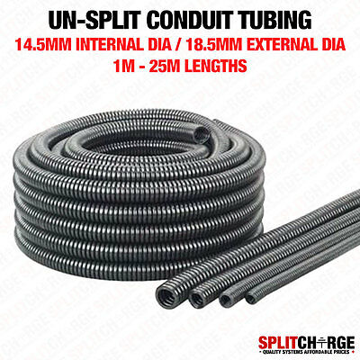Non Split 14.5Mm/18.5Mm Black Spiral Conduit Tube Tubing Cable Tidy Trunking