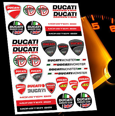 31 Autocollants Auto Moto Voiture Stickers Ducati Corse Racing Sport Tuning