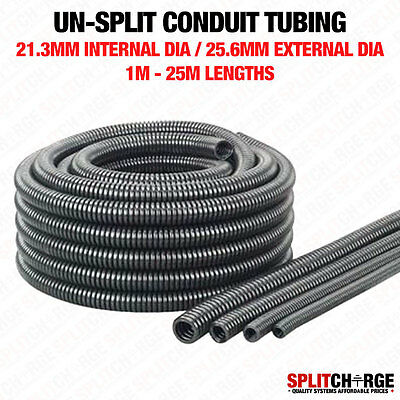 Non Split 21.3Mm/25.6Mm Black Spiral Conduit Tube Tubing Cable Tidy Trunking