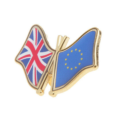 National Flag Button Badge UK & EU Friendship Flag Metal Pin Badge Lapel Pin
