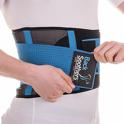 BackSoothers® Super Lightweight Lumbar Lower Neoprene Back Support Brace Belt
