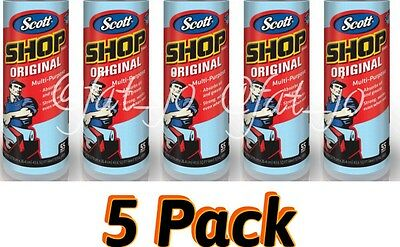 5 Rolls Scott Multi Purpose Shop Cleaning Blue Towels Pack of Kimberly Clark